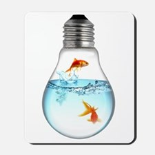 Fish LightBulb Mousepad