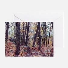 Skyline Drive Woods Greeting Card