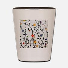 CUTE FLORAL AND VINE ALL OVER PATTERN Shot Glass