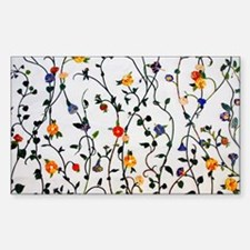 CUTE FLORAL AND VINE ALL OVER PATTERN Decal