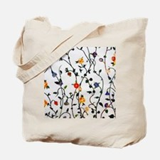 CUTE FLORAL AND VINE ALL OVER PATTERN Tote Bag