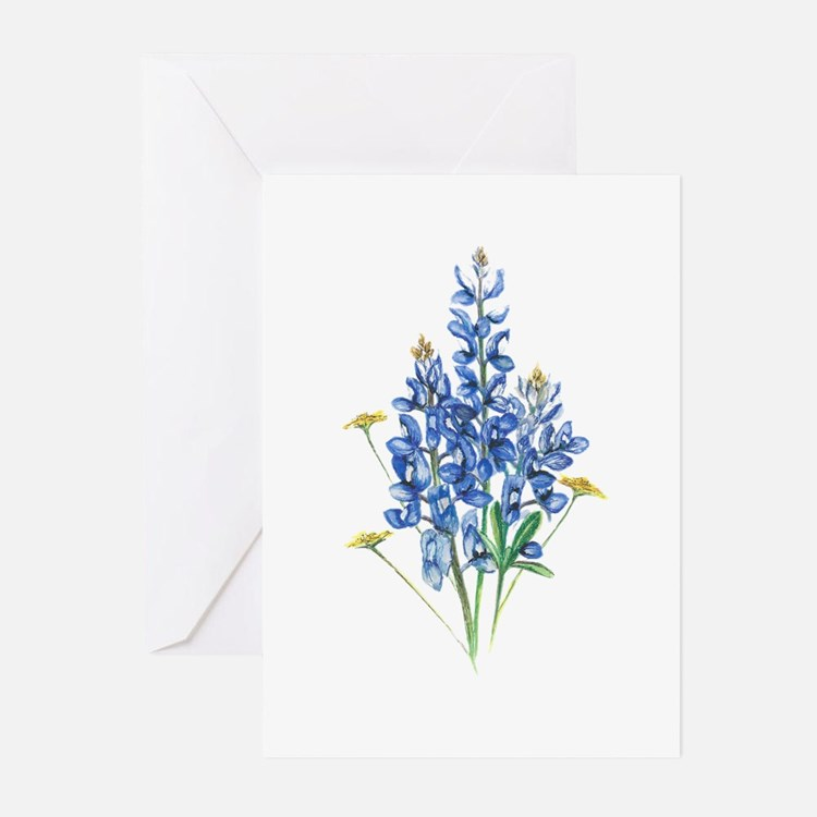 Bluebonnets Greeting Cards