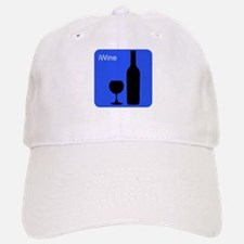iWine Blue Baseball Baseball Cap