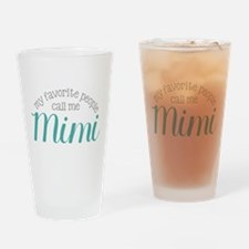 My Favorite People Call Me Mimi Drinking Glass