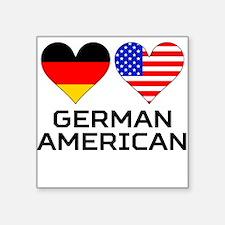 German American Hearts Sticker