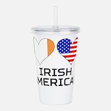 Irish American Hearts Acrylic Double-wall Tumbler