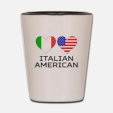 Italian American Hearts Shot Glass
