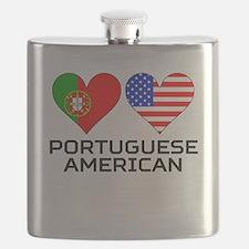 Portuguese American Hearts Flask