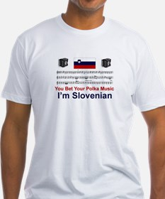 Slovenian Polka Music Ash Grey T-Shirt