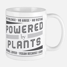 No Violence Powered by Plants Mugs