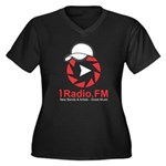 1Radio.FM - Dark Logo Plus Size T-Shirt