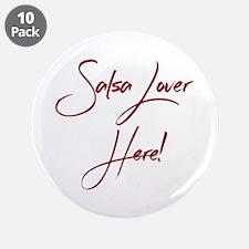 "Salsa Lover 3.5"" Button (10 pack)"