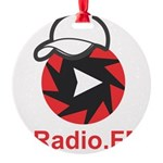 1Radio.FM - Dark Logo Round Ornament