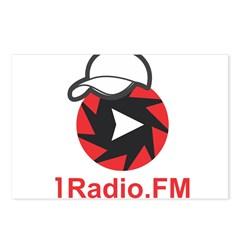 1Radio.FM - Dark Logo Postcards (Package of 8)