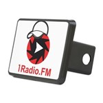 1Radio.FM - Dark Logo Rectangular Hitch Cover