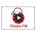1Radio.FM - Dark Logo Banner
