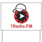 1Radio.FM - Dark Logo Yard Sign