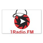 1Radio.FM - Dark Logo Sticker