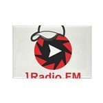 1Radio.FM - Dark Logo Magnets