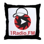 1Radio.FM - Dark Logo Throw Pillow
