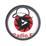 1Radio.FM - Dark Logo Wall Clock