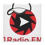 1Radio.FM - Dark Logo Tile Coaster
