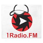 1Radio.FM - Dark Logo King Duvet
