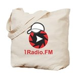 1Radio.FM - Dark Logo Tote Bag