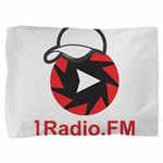 1Radio.FM - Dark Logo Pillow Sham