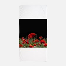 Red Poppies in bright sunlight Beach Towel