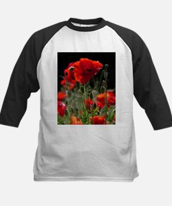 Red Poppies in bright sunlight Baseball Jersey