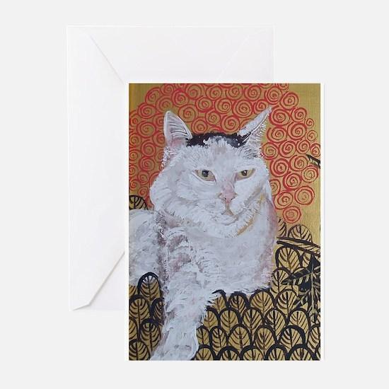Journal Klimt Cat Greeting Cards