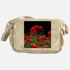 Red Poppies in bright sunlight Messenger Bag
