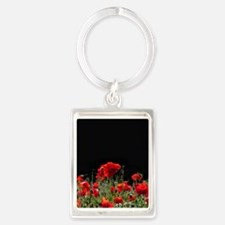 Red Poppies in bright sunlight Keychains
