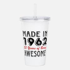 Made In 1962 55 Years Acrylic Double-wall Tumbler