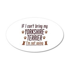 Yorkshire Terrier 22x14 Oval Wall Peel