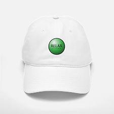 Relax Button Baseball Baseball Cap