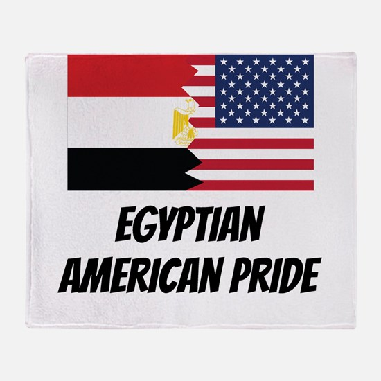 Egyptian American Pride Throw Blanket