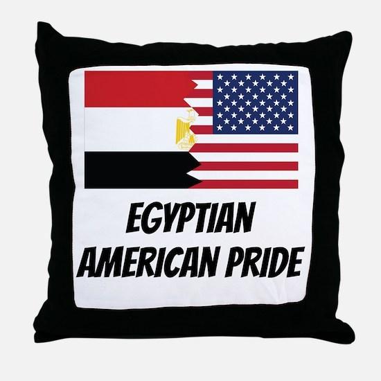Egyptian American Pride Throw Pillow