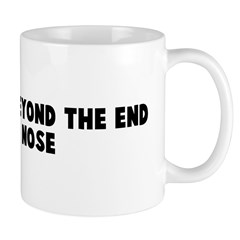Can not see beyond the end of Mug