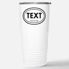 Classic Oval Sticker Personalized Travel Mug