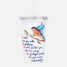 He will Cover You Acrylic Double-wall Tumbler