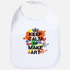Keep Calm and Make Art Baby Bib
