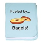 Fueled by Bagels baby blanket