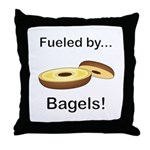Fueled by Bagels Throw Pillow
