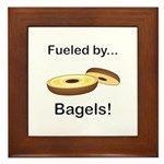 Fueled by Bagels Framed Tile