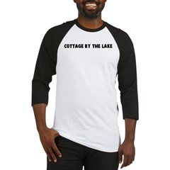 Cottage by the lake Baseball Jersey