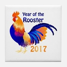 Year of the Rooster 2017 Tile Coaster