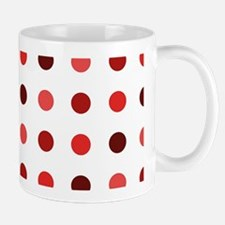 Red, Tricolor: Polka Dots Pattern (Med) Mug