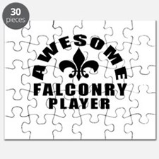 Awesome Falconry Player Designs Puzzle